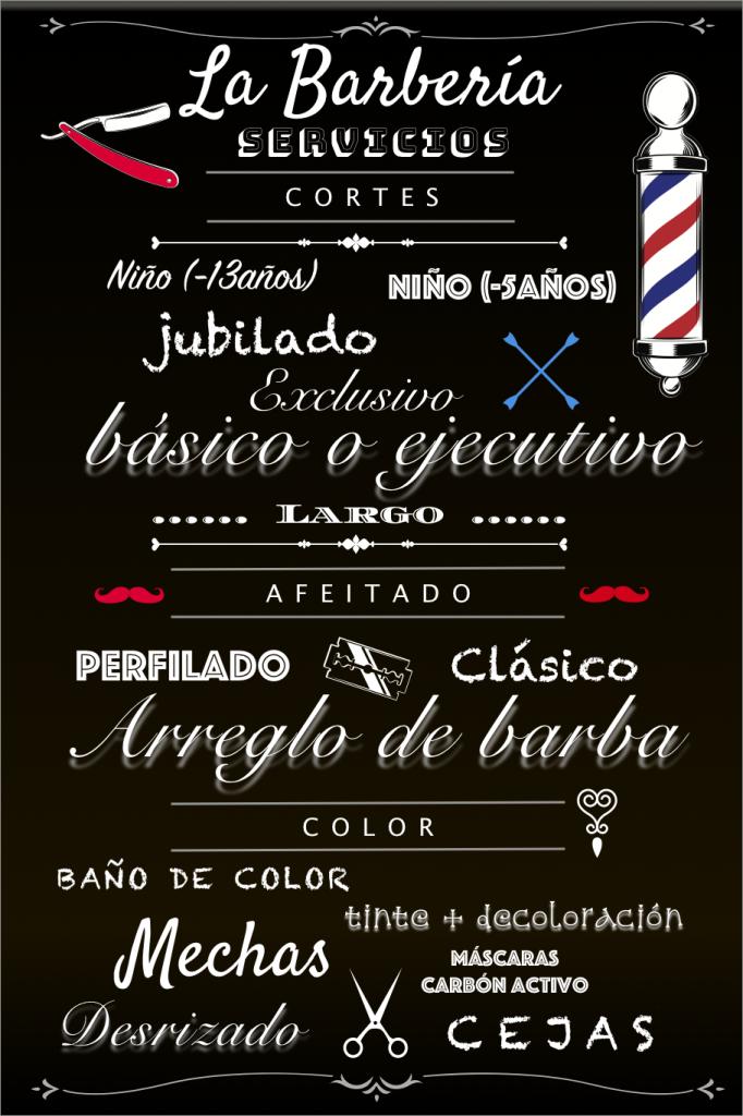 servicios de la barberia
